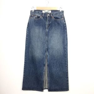 GAP Skirts - Vintage Gap Long Jeans Maxi Skirt w Middle Split
